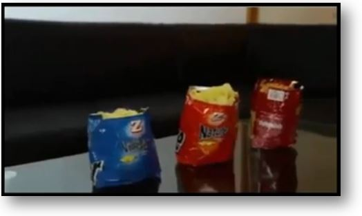 Tip to make a chips or crisps package stand alone
