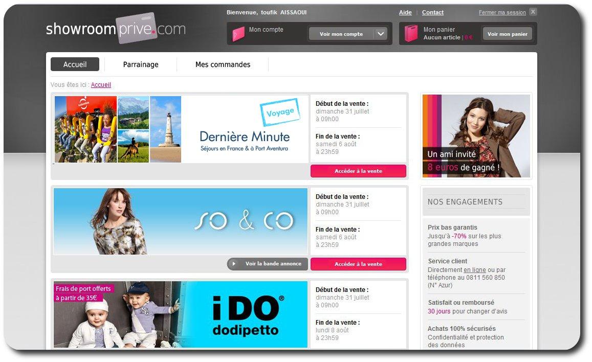 Vente priv e ou group e showrompriv le n 2 des ventes priv es en europe - Site similaire vente privee ...